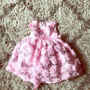 A brand new pink glitter toddler dress